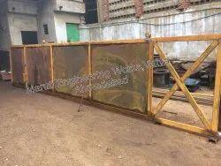 Mild Steel Plain Carbon Steel Industrial Heavy Duty Gates, Size: 25' Or More