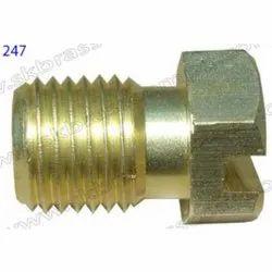 Half Thread Brass Nut And Bolt, Size: M12