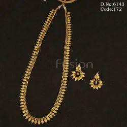 Antique Gold Long Necklace Set