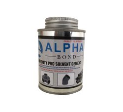 Alpha Bond AP-107 237 ml Heavy Duty PVC Solvent Cement, Tin Can