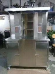 2 Burner shawarama machine with utility