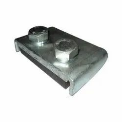 Mild Steel Chrome Crane Rail Clamp, Number Of Bolts: 2