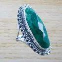 Emerald Gemstone Jewelry 925 Sterling Silver Ring