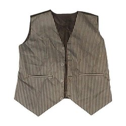 Polyester and Cotton Formal Grey Lining Hotel Waistcoat, Size: Upto XXL