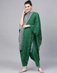 Jaipur Kurti Printed Straight Kurta With Patiala Salwar And Dupatta Set
