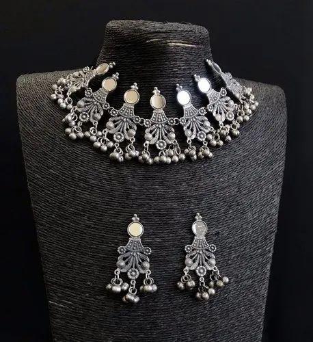 Oxidized Mirror Necklace