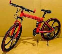 Red Being Human Foldable Cycle