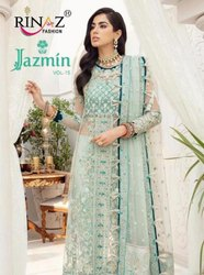 Rinaz Fashion Jazmin Vol 15 Butterfly Net Pakistani Salwar Suit Catalog