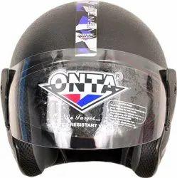ONTA Ventura Sport Plus Open Face Helmet Black Self Coloured-Blue