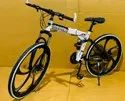 White Bmw Foldable Cycle