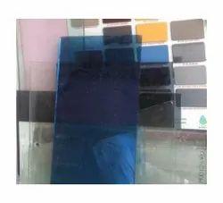 Plain Blue Reflective Glass, Size: 4x5 Feet