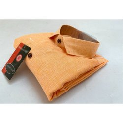 Full Sleeve Men Khadi Plain Shirt
