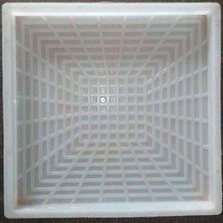 3D Design Chequered Tile Mould