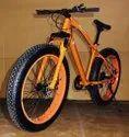 Mercedes Benz Orange Jaguar Fat Tyre Cycle