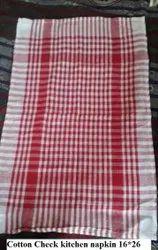 Cotton Check Kitchen Napkin