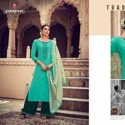 Fancy Weaving Work Cotton Salwar Suit