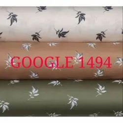 60 % Satin Printed Mens Shirt Fabric