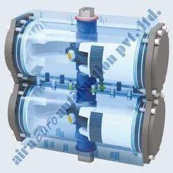 Pneumatic Rotary Scotch & Yoke Double Decker Actuator Double Acting (Aluminium Body)