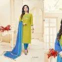 Fashion Floor Silky Unstitched  Salwar Suit -12 Pcs Set