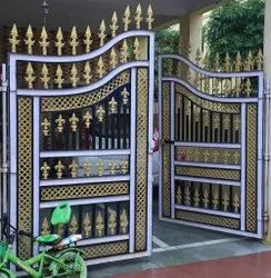 Polished Iron Safety Door, For Home