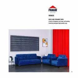 Panam Blue Venice Bold And Dynamic Sofa Set