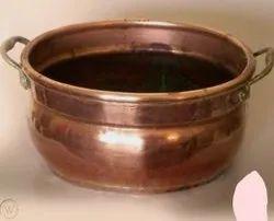 Copper Urli Pot, For Kitchen, Capacity: 2 Liters