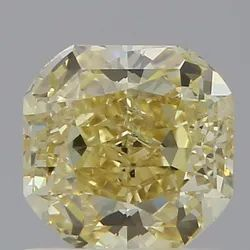 1CT Asscher Fancy Yellow Natural GIA Certified