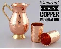 Copper Royal Mughal Jug Copper Pitcher