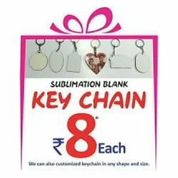 wedlove Black Sublimation Blank Key Ring, Features: Fine Gloss Print, Size: 2.5 inch