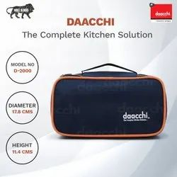 Daacchi Orange,Green Zipper Pouch Lunch Box, For Office,School, 2 Container
