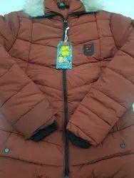 Full Sleeve Casual Jackets Ladies Brown Jacket