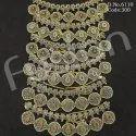 Mehendi Polish Brass Necklace Set