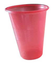 Plain Red Disposable Plastic Glass