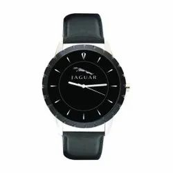 Jaguar Analog Leather Strap Promotional Wrist Watch, For Personal Use