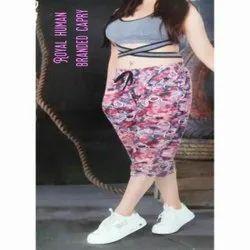 Hosiery Multicolor Ladies Fancy Printed Capri, Size: Medium