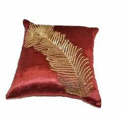 Embroidery And Sequence Cushion Cover