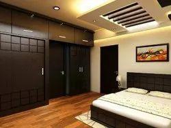 Brown Plywood Bedroom Cabinet
