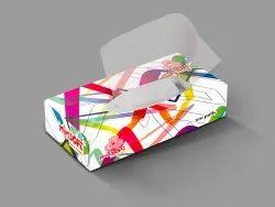 Facial Tissue Paper Box