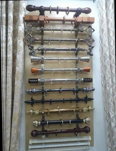 designer curtains rod