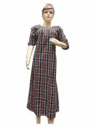Chech Black Ladies Gown, 100GSM