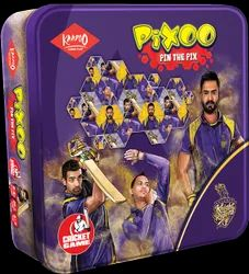 Multicolor KAADOO Pixoo KKR Cricket Heroes Logic Puzzle Game