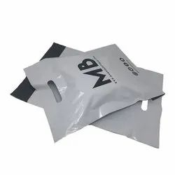 Recyclable Standard Greyish White & Black Tamper Proof Courier Bags