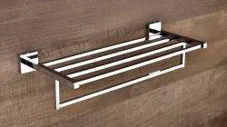 Standard Chrome Brass Towel Rack, For Bathroom, Size: 24 Inch