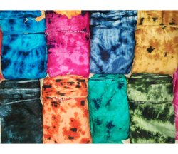 38 Inch Rayon Tie Dye Fabric