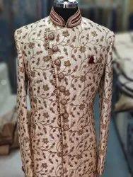 Cream Wedding Wear men's sherwanis, Size: 36 To 44