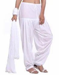 Jaipur Kurti Pure Cotton White Patiala Salwar and Dupatta Set