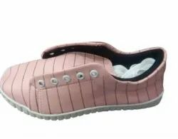 Pink Casual Wear Ladies Canvas Shoes