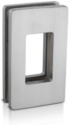 Inox Double Sided 304 Stainless Steel Glass Square Flush Sliding Door Handle ASDH-02