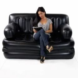 Rubber Modern Air Sofa Beds & Washable Air Sofa & Inflatable Sofa Air Bed, For Home, Size: Medium