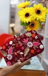 Branded Flower Ladies Clutch